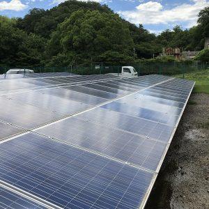 放棄地を利用した太陽光発電